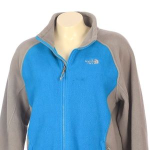The North Face Gray Blue Fleece Sweater Jacket